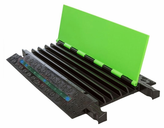 5-Channel Firefly Illuminated Cable Protector - Green Lid / Blue LEDs