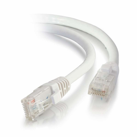 50Ft Cat6 Universal Boot Ethernet Cable - White, 10-Pack