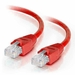 50Ft Cat6A Snagless Unshielded (UTP) Ethernet Cable - Red, 10 Pack