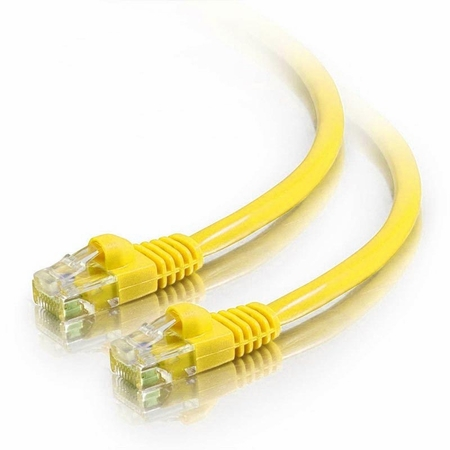 5Ft Cat5e Crossover Snagless Ethernet Cable - Yellow, 10-Pack
