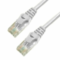 5Ft Cat5e Ferrari Boot Ethernet Cable - White, 10-Pack