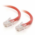 5Ft Cat6 Crossover Non-Booted Ethernet Cable - Red, 10-Pack