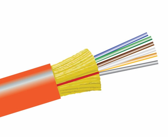 6-Fiber 50/125 OM2 Ultra-Fox In/Outdoor Distribution, Riser Rated