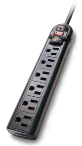 6-Outlet Surge Protector W/LED, 4 Foot Cord, GoldX™ - GXS-702R