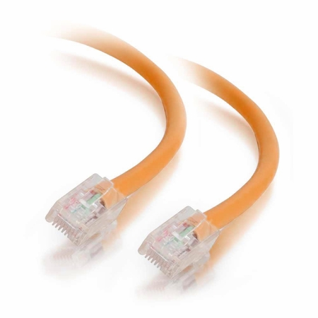 7Ft Cat6 Non-Booted Ethernet Cable - Orange, 10-Pack