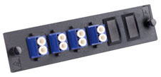 8-port, Duplex LC, Keyed, Singlemode/Multimode, Fiber Adapter Panel