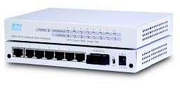 8-port switch with 7 x 10/100 & 1 x 100FX, Singlemode, SC, 40KM