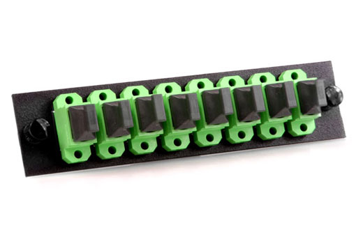 Adapter Panel, Fiber Optic, 96-Fiber, (8) MTP/MPO Feed Through Adapters