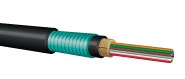 Fiber Optic Cable, 60-Strand, MM 50/125 OM3, Armored Dist., Plenum