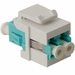 Belden Fiber Optic Keystone Connectors LC Duplex Module, Aqua