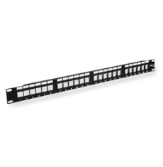 Blank Patch Panel, HD, 24-Port, 1 RMS