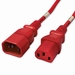 C14 to C13 Power Cable - 8ft Red 10Amp Power Cord