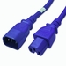 C14 to C15 Power Cable - 1ft Blue 15Amp Power Cord
