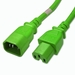 C14 to C15 Power Cable - 6ft Green 15Amp Power Cord