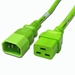 C14 to C19 Power Cable - 6ft Green 15Amp Power Cord