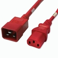 C20 to C13 Power Cable - 2ft Red 15Amp Power Cord