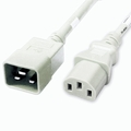C20 to C13 Power Cable - 3ft White 15Amp Power Cord