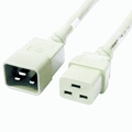 C20 to C19 Power Cable - 12ft White 20Amp Power Cord