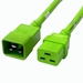 C20 to C19 Power Cable - 3ft Green 20Amp Power Cord