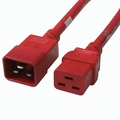 C20 to C19 Power Cable - 3ft Red 20Amp Power Cord