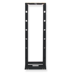 Cable Management Rack, Hybrid, Black, 7'