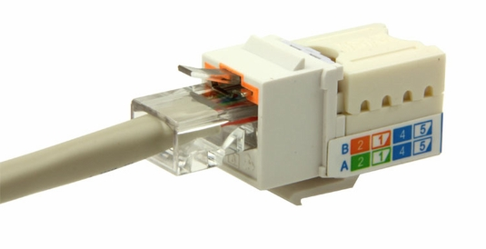 Cat5e LocJack Keystone Jacks, 8P8C, UL