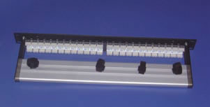 CAT 6, 2U, 48-Port, 110 AlphaSnap Patch Panel