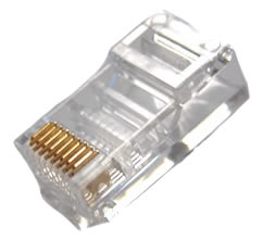 CAT5/CAT5E Round Stranded Modular Plugs (RJ45 Connectors), 100 Pack