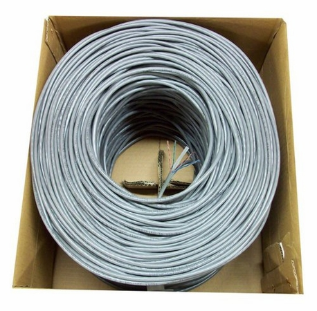 Cat5e 4 pair Riser-Rated Bulk Wire, 1000', Pull Box, 23 AWG