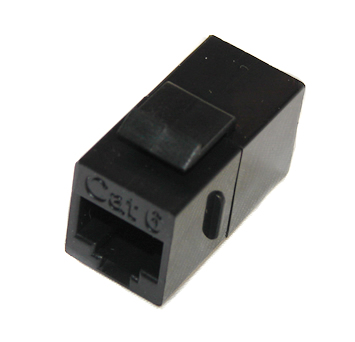 CAT6 Feed-Thru Coupler, Black