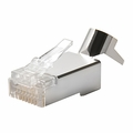 CAT6/A 8x8 Shielded Solid/Stranded Modular Plugs (RJ45 Connectors), 50 Pack