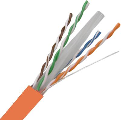 Cat6A, 4 Pair, 23 AWG, Solid, U/FTP, Shielded Twisted Pair Cable, CMP Rated, 1,000'