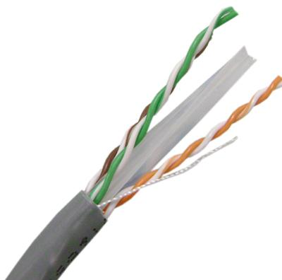 Cat6A, 4 Pair, 23 AWG, Solid, U/FTP, Shielded Twisted Pair Cable, CMR Rated, 1,000'