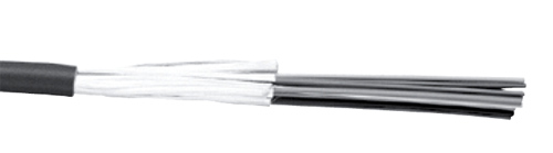 Fiber, 4-Strand, MM, 62.5/125 Micron, In/Outdoor Tight Buffer Dist., OFNP Rated Black Jacket