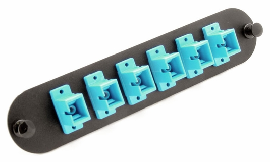 Chameleon SC 6-Port, MM/SM Adaptor Panel (Aqua)