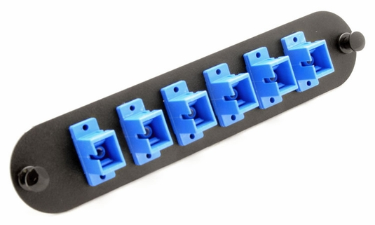 Chameleon SC 6-Port, MM/SM Adaptor Panel (Blue)