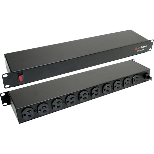 CyberPower CPS1215RM Rackmount, 10-outlet PDU, 120V 15A Output ...