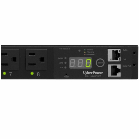 CyberPower PDU15SW8FNET 8 NEMA 5-15R Controllable Receptacles