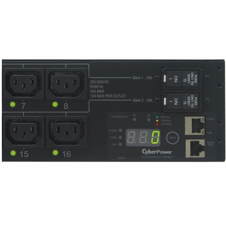 CyberPower PDU30SWHVT16FNET 16 IEC-320 C13 Controllable Receptacles