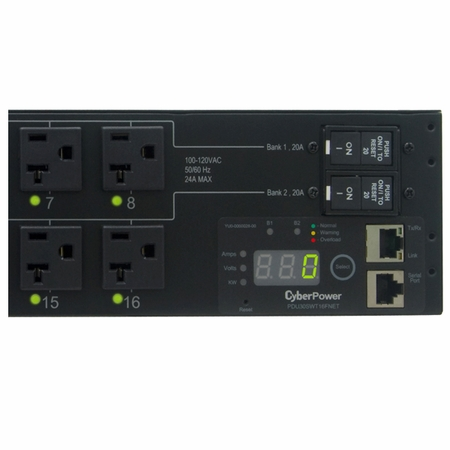 CyberPower PDU30SWT16FNET 16 NEMA 5-20R Controllable Receptacles