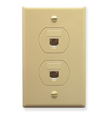 Designer Wall Plate, 2 VOICE 6P6C