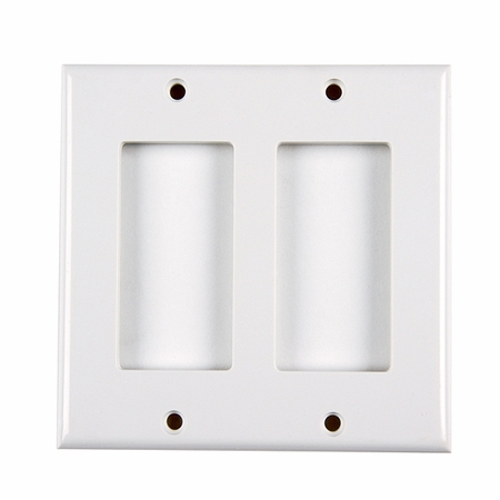 Dual Gang Rectangular Decorator Faceplate