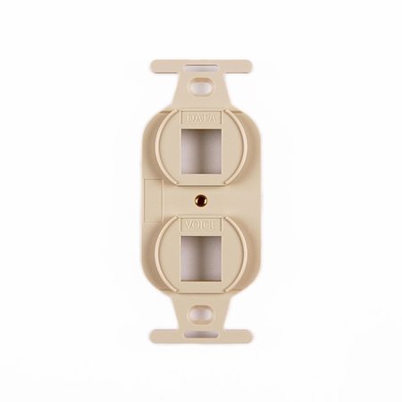 Duplex 2-Port Mounting Frame Outlet Box Attachment