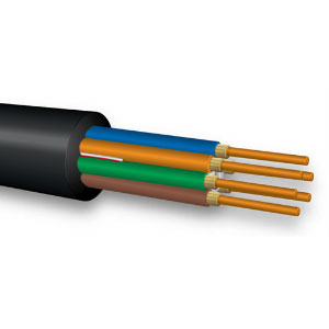 6-Fiber, 9/125 Low Water Peak SM Broadcast rated DX Series Ultra-Fox Fiber, Tactical PE Jacket, 250 micron fiber with 900 micron tight buffer