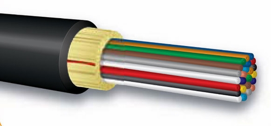12-Fiber, 9/125 OS2 Low Water Peak Bulk Fiber, Broadcast Rated