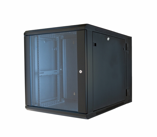 ERWEN-12E750 - 12RU, 24 Hinged Wall Equipment Rack Enclosure