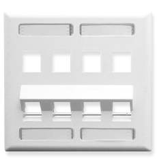 Faceplate, ID, Angled, 2-Gang, 8-Port
