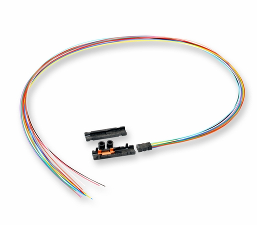 Corning 12-Fiber Loose Tube Fan-Out Kit w/ 900um 25 Color Coded Leads