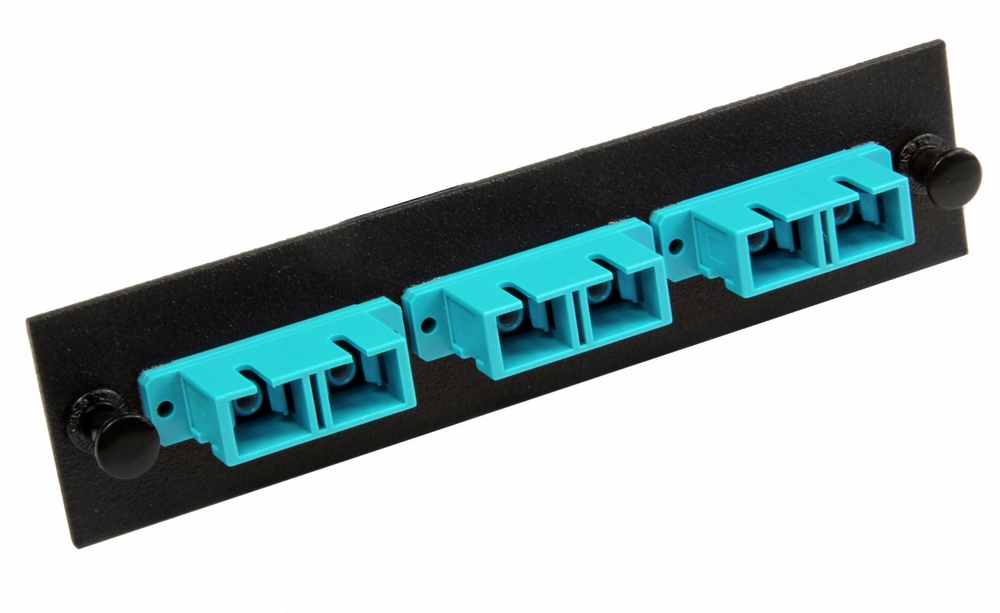 Fiber Adapter Panel, 6-Fiber, SC Duplex, Zirconium Insert, Multimode ...