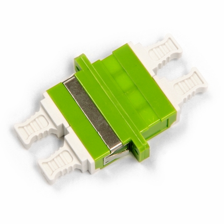 LC/APC Quad Fiber Coupler, Green